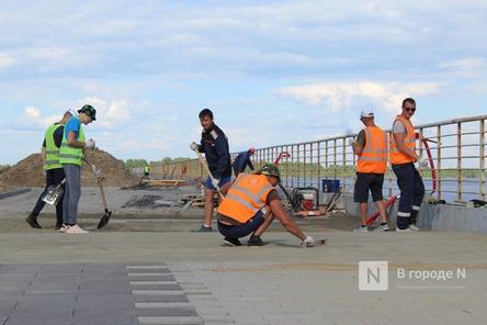 Монтаж амфитеатра ведется на Окской набережной в Нижнем Новгороде