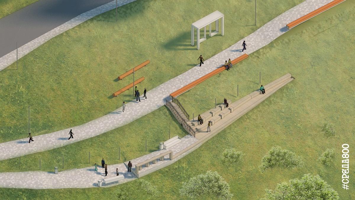 Амфитеатр и площадку для слэклайна предлагают установить на набережной Федоровского - фото 2