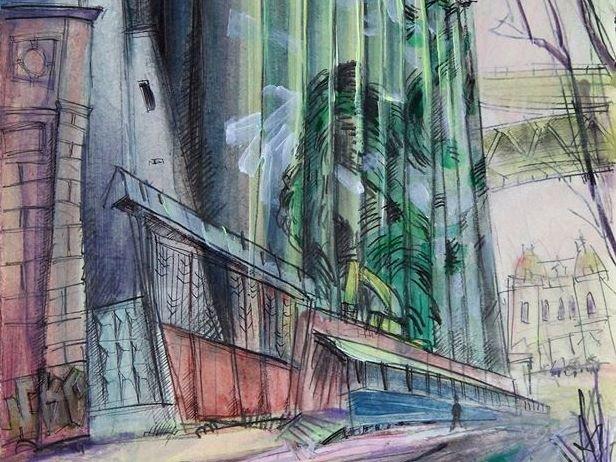 Элеватор на Черниговской появился на картинах дзержинского художника - фото 1