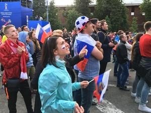 Матч Россия — Египет: прямая трансляция из зоны болельщиков в Нижнем Новгороде
