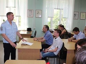 Преподаватели политеха встретились с представителем управления МВД России по Нижнему Новгороду