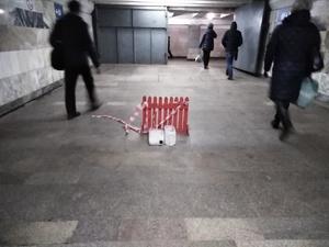 На станции «Кировской» протек переход