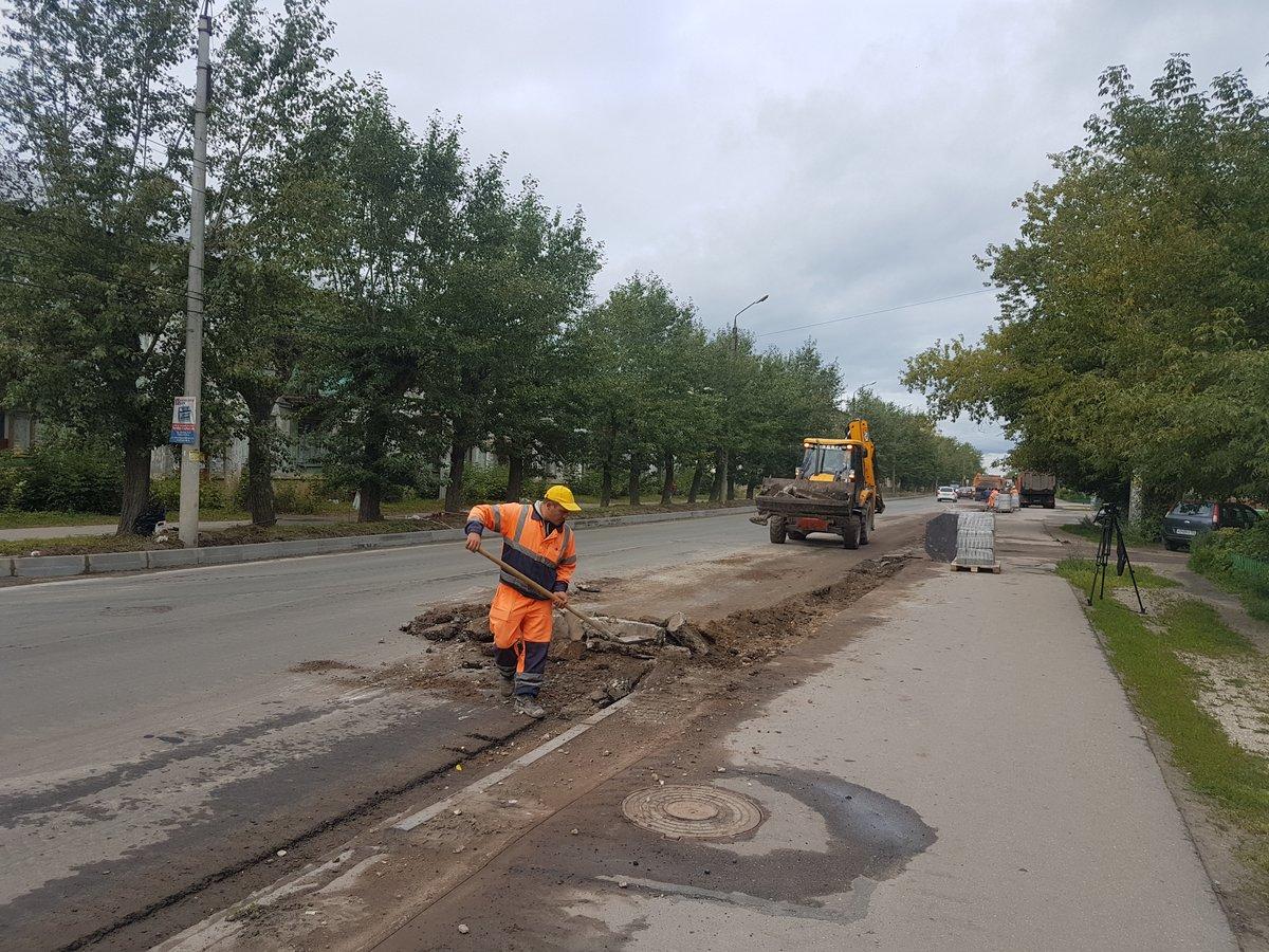 Дорогу на улице Октябрьской в Дзержинске отремонтируют к сентябрю - фото 1