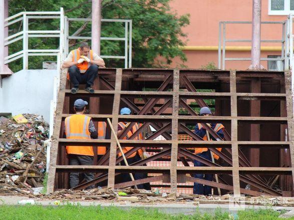 Благоустройство «Красной горки» на улице Усилова началось несмотря на путаницу с проектами - фото 15