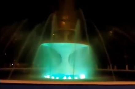 Фонтан в Автозаводском парке оборудовали подсветкой