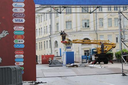 Фан-зону в Нижнем Новгороде демонтируют до 1 августа