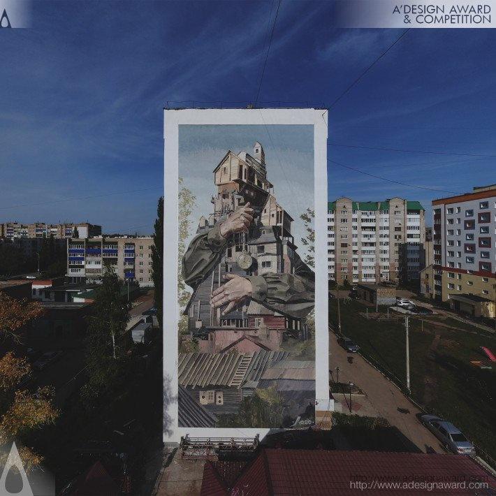 Мурал нижегородского художника получил награду международного конкурса - фото 1