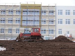 Работы по наружной теплоизоляции начались в новой школе в Новинках