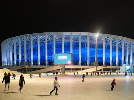 Стало известно, когда откроется каток и хоккейная площадка около стадиона «Нижний Новгород»