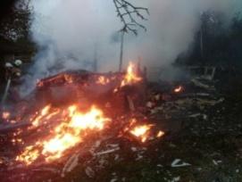 Пенсионера госпитализировали из-за пожара в садовом домике Ленинского района