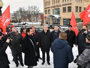 Грудинин оценил качество ремонта Большой Покровской и красоту Дворца правосудия в Нижнем Новгороде