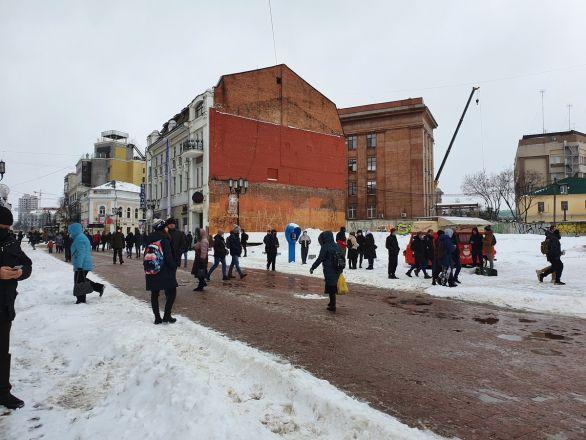 Протестующие собрались в центре Нижнего Новгорода - фото 4