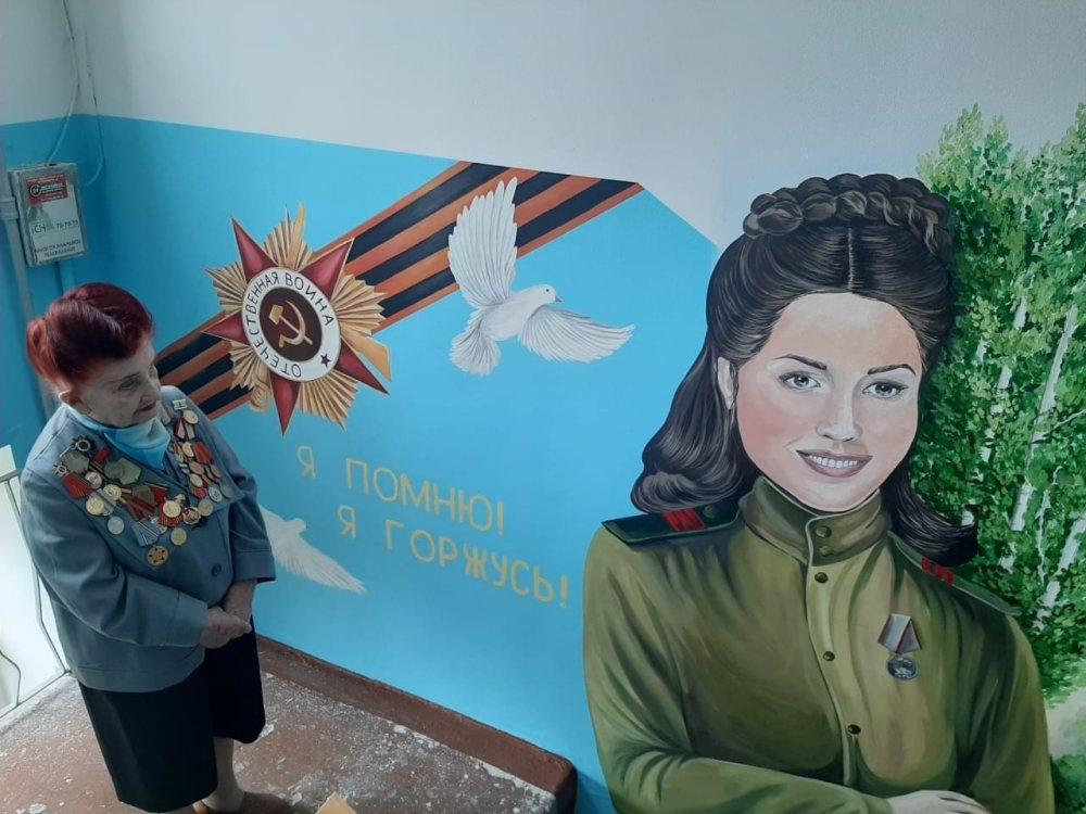 Ветеран Тамара Рунова снова вдохновила нижегородских художников на создание картины - фото 1